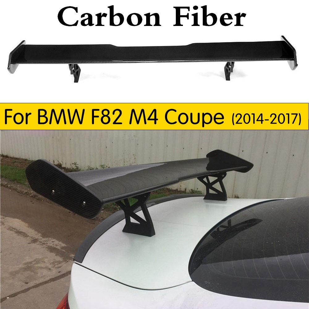 Car Styling M4 GTS Style Carbon Fiber Rear Trunk Wing Spoiler for BMW F82 M4 Coupe 2014 2017 Auto Racing Bodykit Tail Wing