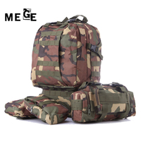 MEGE Large Capacity Nylon Outdoor Sport Gym Bag, Military Tactical Mountaineering Backpack Camping Hiking Trekking Bag for Gym