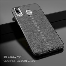 For Samsung Galaxy M20 Case Luxury Rubber Soft Silicone Phone Cover PU Fundas