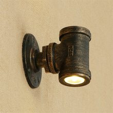 Loft Style Iron Water Pipe Lamp LED Wall Sconce Double Head Industrial Vintage Wall Light Fixtures Home Lighting Lampara Pared(China)
