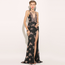 Plunge Sequin High Split Maxi Dress