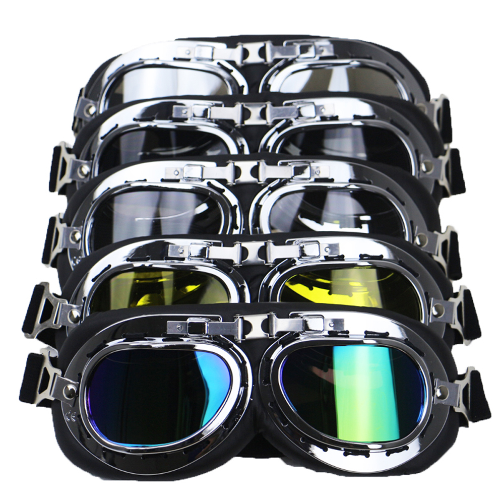 Retro Motocross Goggles Motorbike Riding Vintage Glasses Motorcycle Spectacles Gafas Protective For Dirt Bike Off Road Drives