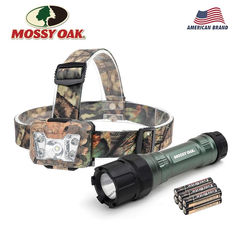 Mossy Oak 2PC Tatical Flashlight LED Flash Light Torch Light Outdoor Camping Lighting цена