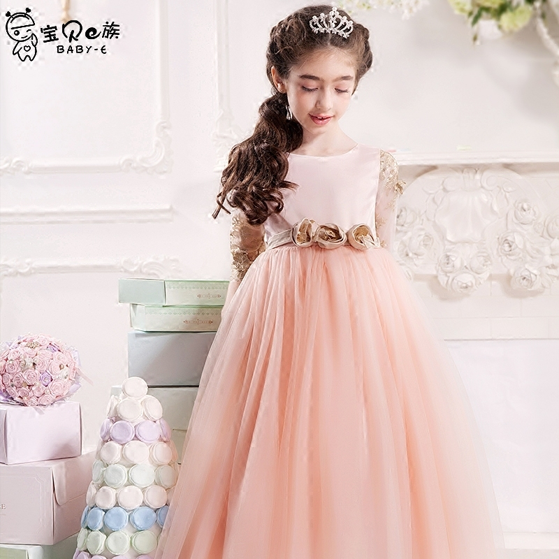 Princess tutu dress wedding birthday party good quality for 6 7 8 9 10 11 12 13 14 15 16 years girl performance evening gown girls princess dress summer new sleeveless for 6 7 8 9 10 11 12 13 14 15 16 years child brand wedding party long tutu full dress