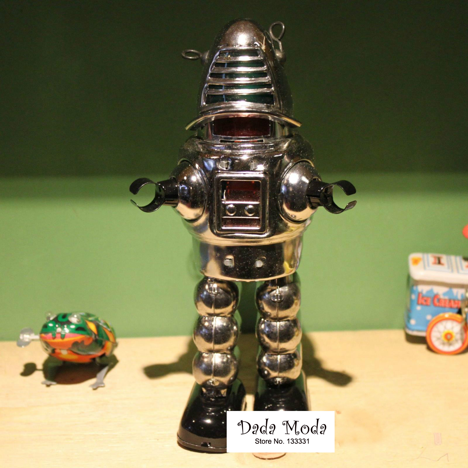 Antique Style Toys Wind Toys Iron Models For Children/Adult Home Decoration Craft MS-430 Fencing Robot In Tin Toys