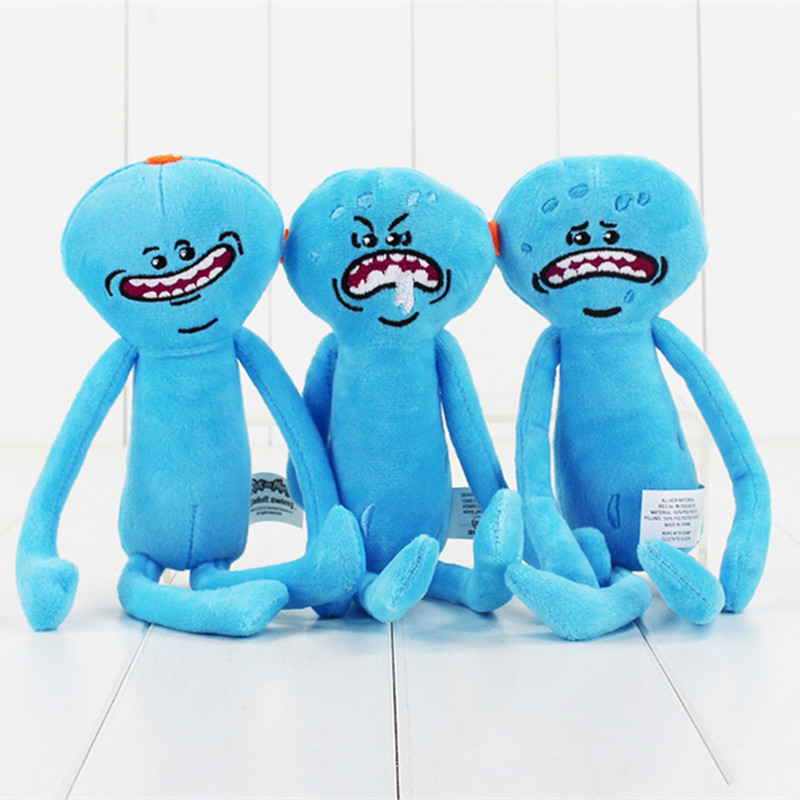 Rick and Morty Happy Sad Faces Mr Meeseeks Figures Plush Stuffed Kids Doll Toys Rick and Morty Accessories Merchandise Gift