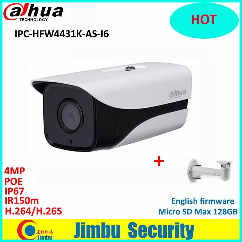 Здесь продается   Original Dahua  4MP ip camera support POE SD Card slot Audio/Alarm 1/1 channel I/O IR Bullet camera IPC-HFW4431K-AS-I6  Безопасность и защита