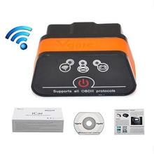 Vgate икар 2 Мини OBD2 OBD II ELM327 Wi-Fi Автомобиля Диагностический Scan Tool для IOS iPhone iPad ПК с Переключателем Auto Sleep LR10
