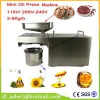 Uso doméstico de Aço Inoxidável Automático Imprensa de Óleo Pequena Casa Fria Máquina de prensagem a Quente para o amendoim, coco