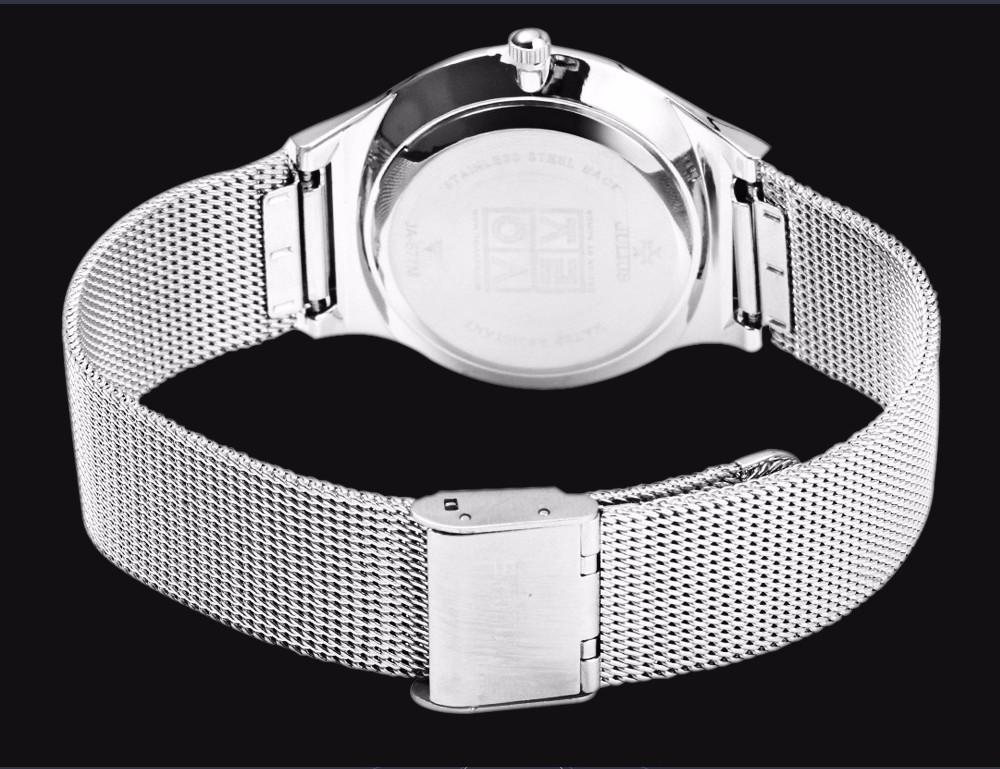 Julius Men Watch Stainless Steel Band Analog Display Quartz Wristwatch (15)