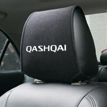 1 sztuk najnowsza samochodowa zagłówek pokrywa pasuje do NISSAN QASHQAI J10 J11 2011 2008 2018 2019 akcesoria car Styling