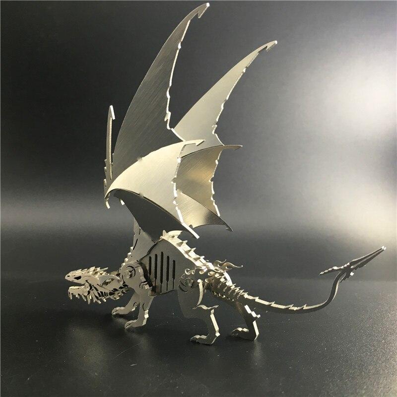 Creative 3D Modèle Amovible Wyrm de Givre Dinosaures produit Fini Aucun Assemblage Jouet Collection Ameublement Décoration Artisanat