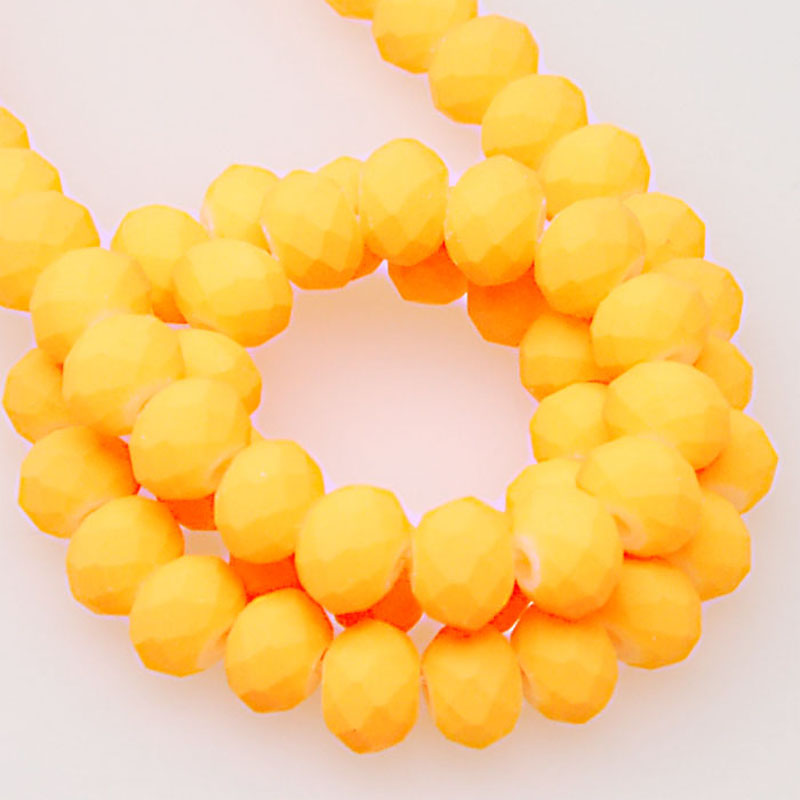 Neon satin crystal rondelle satin faceted beads 4x6mm neon spacer beads sold of <font><b>10</b></font> srands/<font><b>1000</b></font> pieces image