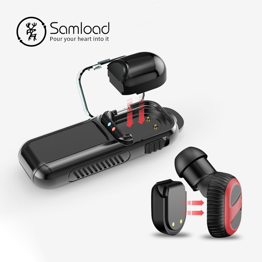 Samload Bluetooth Earpiece Wireless Headset Earbud Built In Microphone With Charger Case And Replaceable Battery For Smartphone Bluetooth Earphones Headphones Aliexpress
