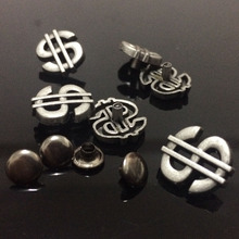 New Coming 50PCS 13X15MM Antique Silver US Dollar StudS Rivet Punk Dollar Spike Shoes Belt Bag Accessories Leather Craft