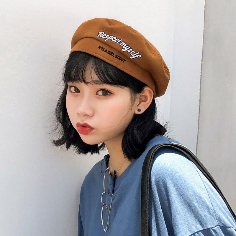 2018 Sommer Weiche Wolle Frauen Baskenmütze Hut Casual Streetwear 90 S Mädchen Baskenmütze Kappe Weibliche Französisch Baskenmütze Kappen