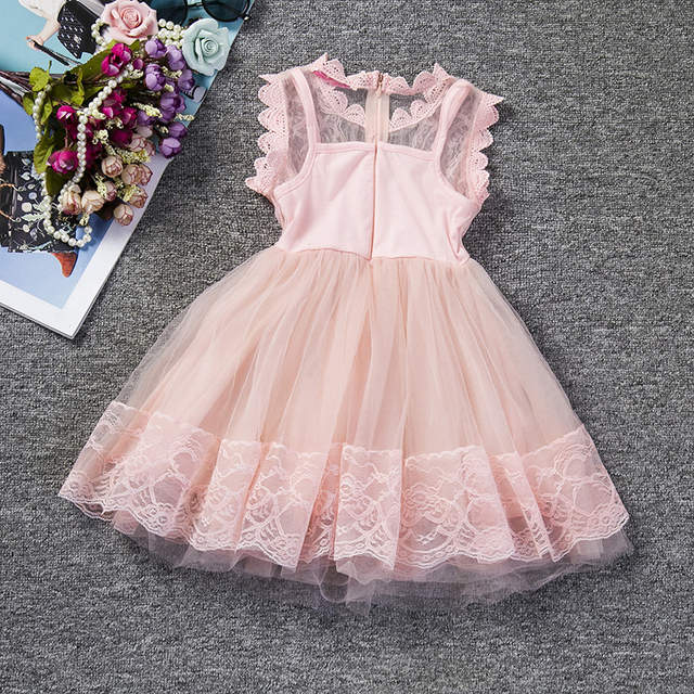 5ea1d9170 Online Shop Pink White Short Puffy Dresses For Girls Summer ...