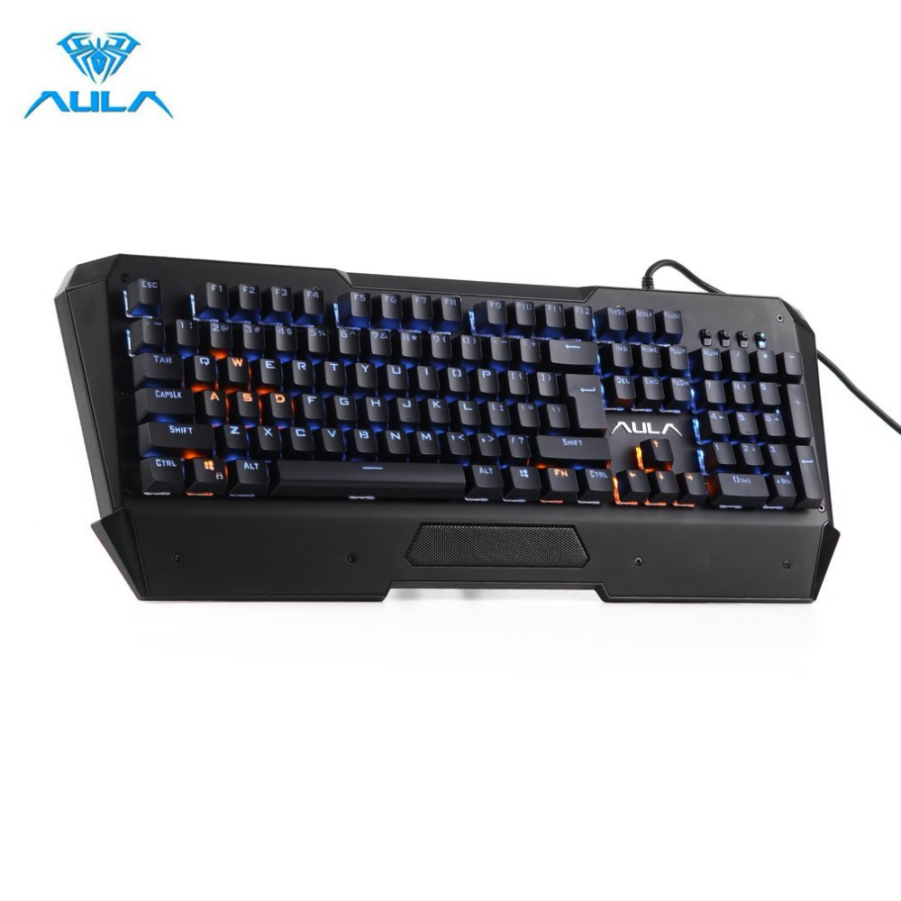 AULA Original Professional Wired Mechanical Keyboard 104 Keys LED Backlight Optical Gaming Keyboard for Gamer Hot Dropshipping professional 29 keys programmable mechanical usb wired one hand gaming keyboard rgb led backlit backlight for pro gamer