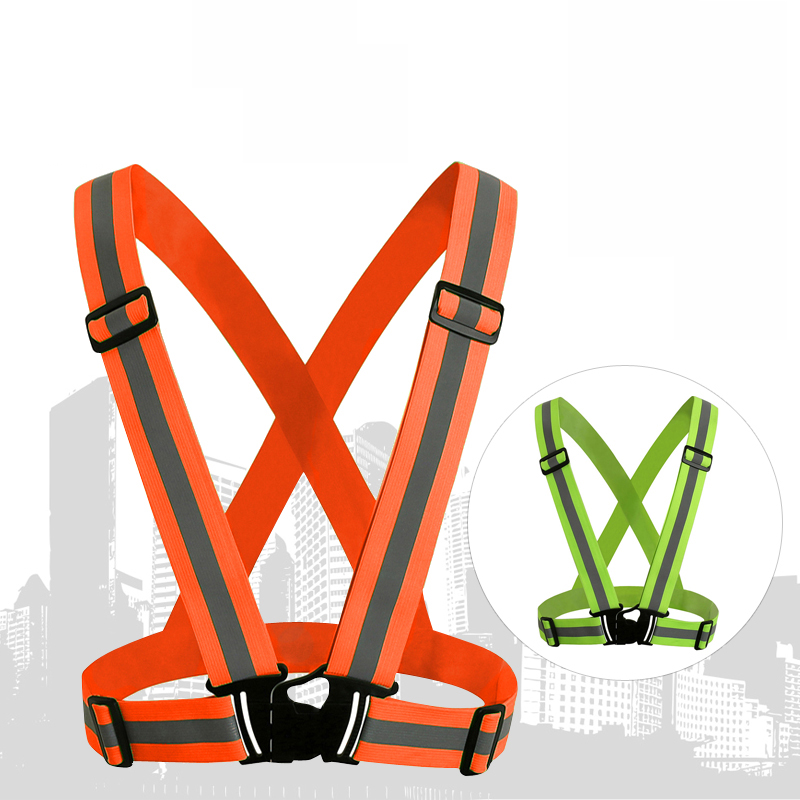 High Visibility Neon Safety Vest Reflective Belt Safety Vest Running Cycling Climbing Mo ...
