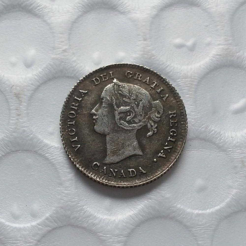 FREE SHIPPING 1954 CANADA 5 CENTS Chromium Coin Canada Nickel Bin