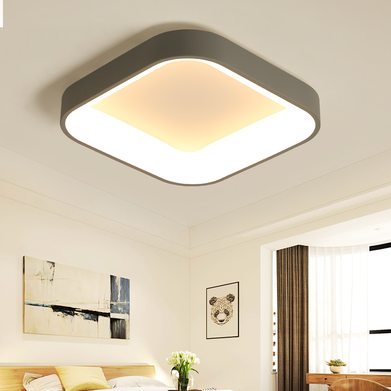 Modern Minimalism LED Ceiling Light Square Indoor down light Ceiling Lamp creative personality study dining room
