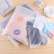 2pcs Waterproof Ziplock Cloth Underwear Bra Socks Frosted Storage Bag Seal Pouch Organizer Matte Travel Pouch Sealed Transparent(China)