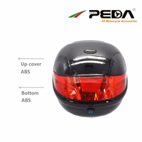 RU 2019 Motorcycle Box Ebike Top Case Electric Scooter Trunk ABS One Helmet Hard Tail boxes Luggage Rear Case Baul PEDA