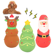 Hot Sale Pet Dog Toy Santa Claus Christmas Tree Elk Shape Latex Sounding Molar Chew Funny Gift Pets Squeaking
