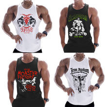 New fashion cotton sleeveless shirts tank top men Fitness sh