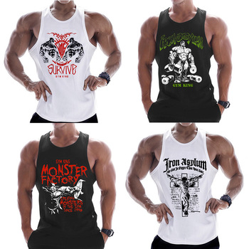 New fashion cotton sleeveless shirts tank top men Fitness shirt mens singlet Bodybuilding workout gyms vest fitness men