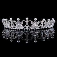 Full Zircon Tiara Copper Zircon Tiaras Micro Pave CZ Bride Crown Wedding Hair Jewelry Diadem Mariage Coroa
