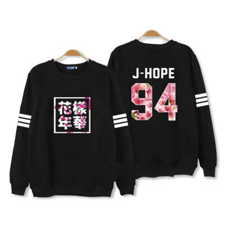 Kpop children BTS 2016 Bangtan mood for love thin unisex t k-pop BTS dress clothes hooded jacket long sleeve shirt top