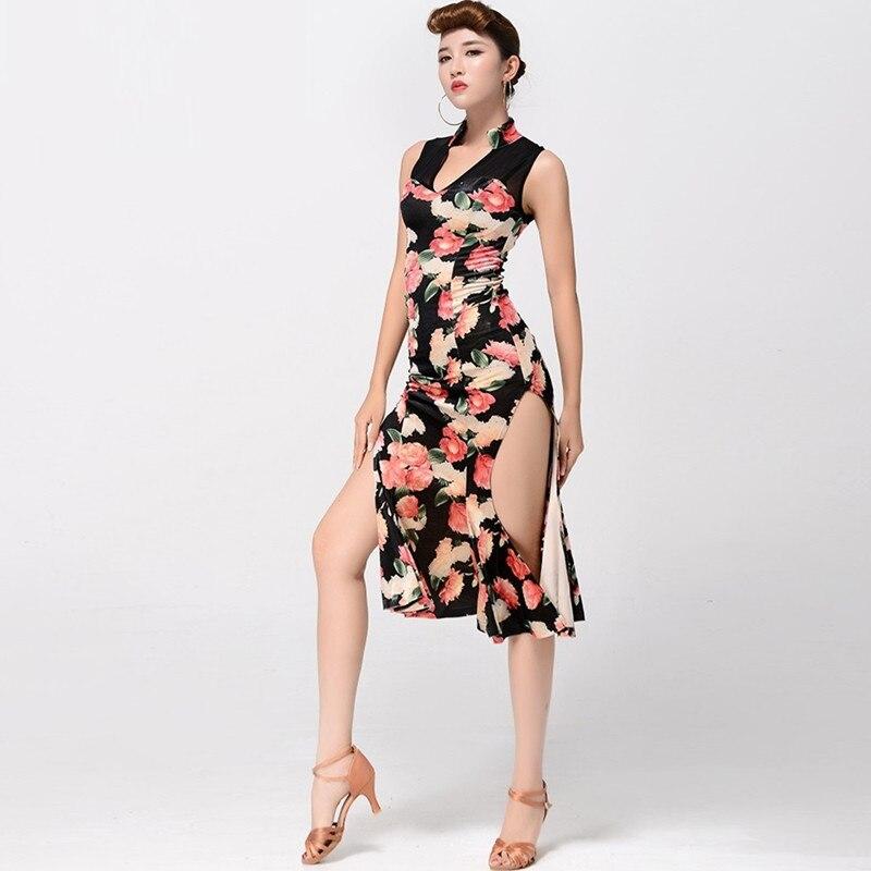 Womens latin dance dress latin ballroom dress modern dance costume sexy tango dresses dance clothes dancewear latin dress