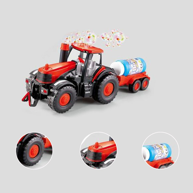 Bolha Soprando Brinquedo das crianças Do Carro Brinquedos Do Carro Caminhão Trator Agrícola com Luzes de Som Crianças Máquinas Blazed Brinquedos