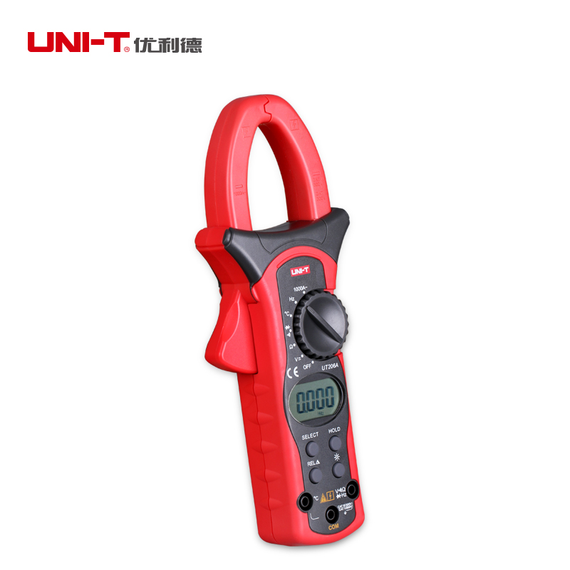 High Accuracy Uni-t UT205A LCD Digital Clamp meter Multimeters DC AC Volt Ampere Ohm Hz Auto Range Tester high quality uni t ut210e handheld lcd digital multimeters ac dc