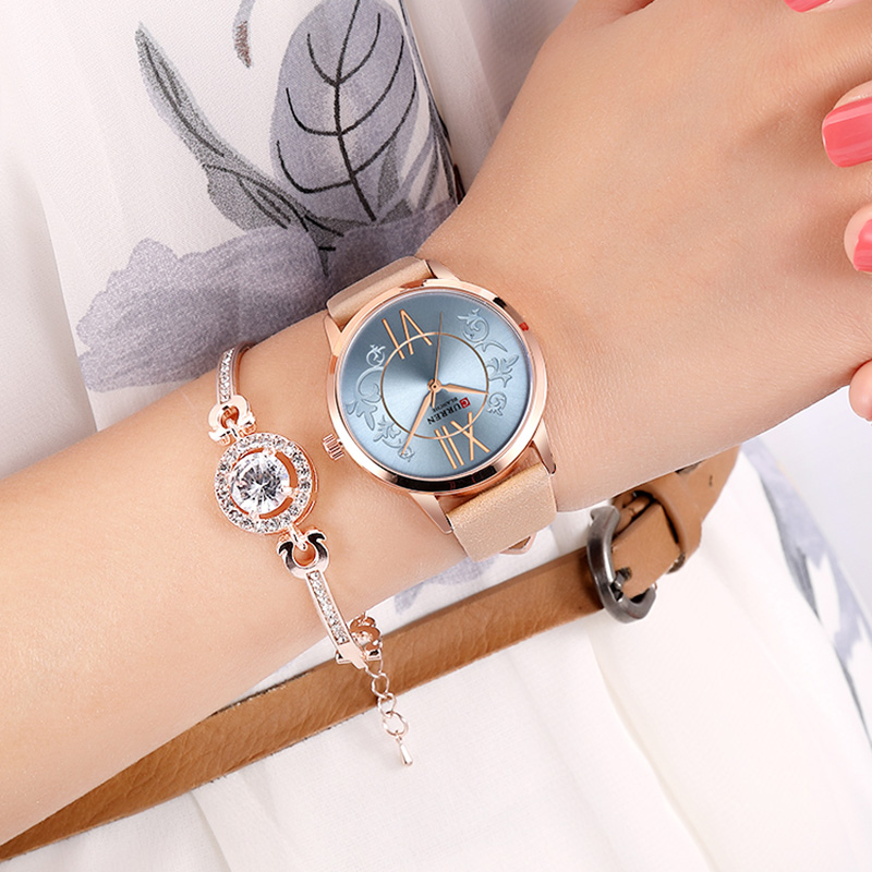 <font><b>Curren</b></font> Women Watches Top Brand Luxury Leather Watches Women Water Resistance Woman Watch Sports Brand Quartz Relogio Feminino image