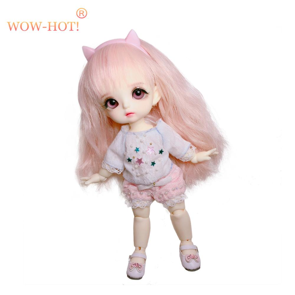 1/8 Bjd Sd Doll Wigs for Lati Dolls 15cm High Temperature Wire Long Curly Synthetic Hair for Dolls Accessorries High Quality Wig wowhot 1 4 bjd sd doll wigs for dolls high temperature wires short straight bangs fashion wig 1 6 1 3 for dolls accessories toy