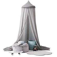 Nordic Style Children Round Crib Netting Dome Bed Cover Chiffon Mosquito Net for Children Girl Room Decoration Indoor Tent