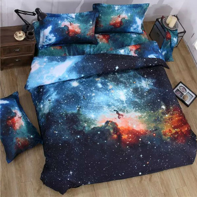3d Galaxy bedding sets Twin/Queen Size Universe Outer Space Themed Bedspread 3pcs/4pcs Bed Linen Bed Sheets Duvet Cover Set3d Galaxy bedding sets Twin/Queen Size Universe Outer Space Themed Bedspread 3pcs/4pcs Bed Linen Bed Sheets Duvet Cover Set