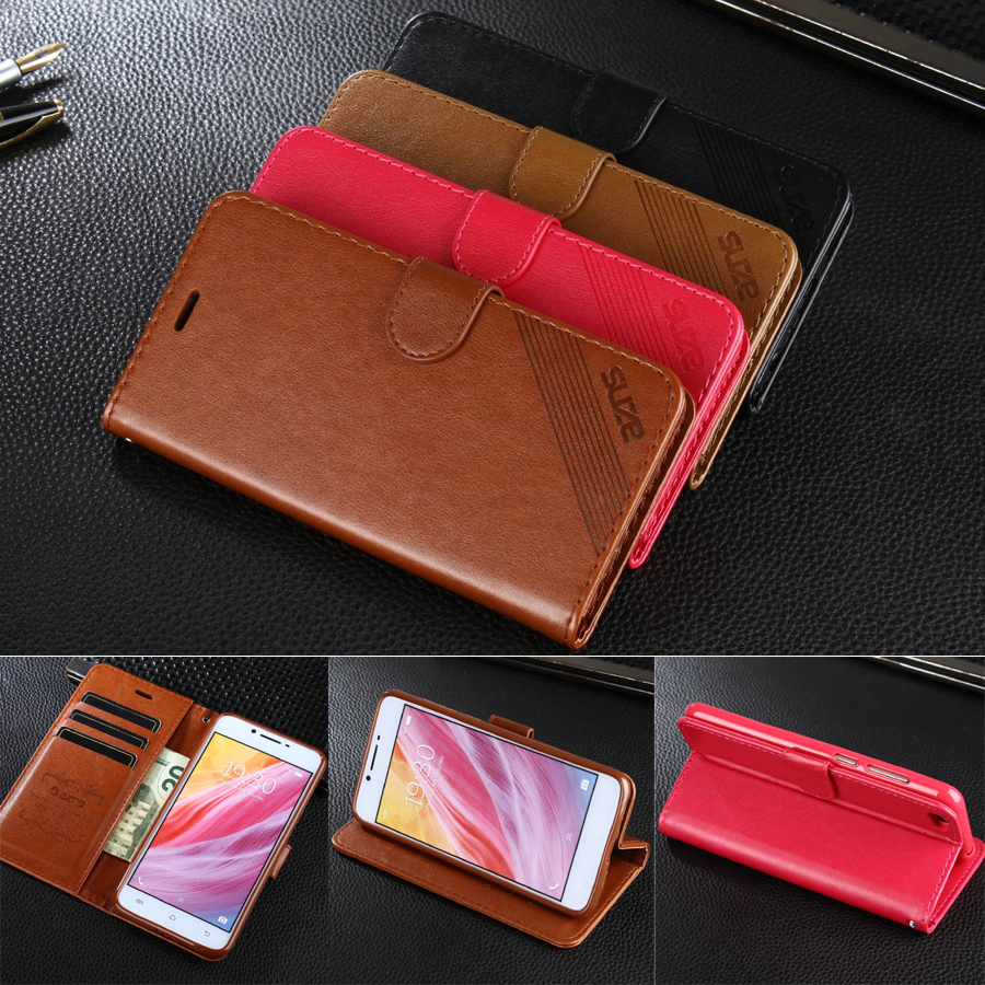 AZNS Case For BBK Vivo Y55 5.2 Wallet Leather Case Stand Flip Card Hold Phone Cover Bags For Vivo Y55