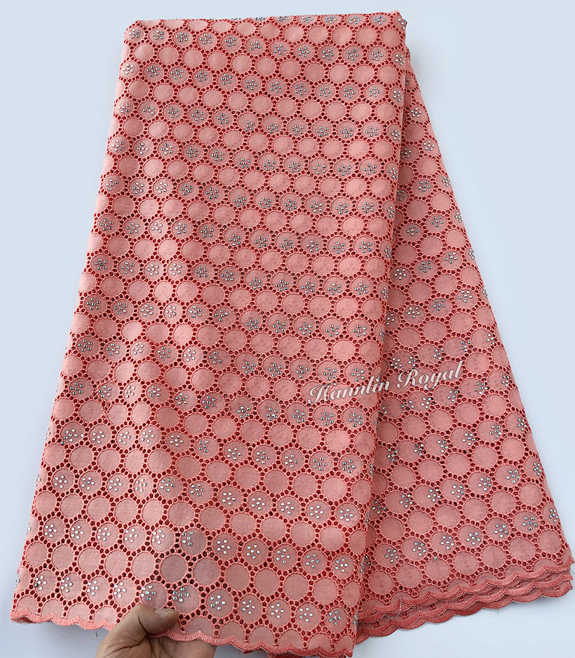 superb Swiss voile lace Smooth Soft eyelet embroidery African lace fabric Nigerian cotton garment cloth high quality 5 yards-in Lace from Home & Garden    1