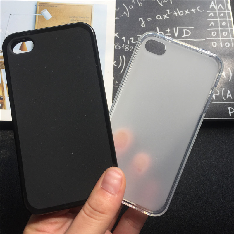 Soft Silicone Protective Back Cover Cases for Apple iPhone 4 4S TPU Mobile Phone Case Black Para Original Coque