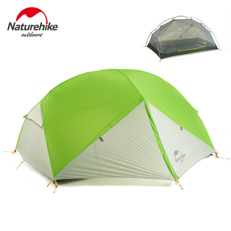 Naturehike 2 Person Camping Tent 3 Season Waterproof Tent Double Layer Tent Outdoor Picnic Dome Tent