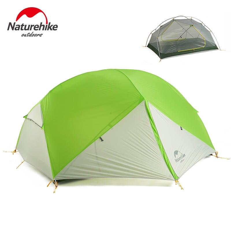 Naturehike 2 Persona Tenda Da Campeggio 3 Stagione Impermeabile Tenda di Doppio Strato Tenda Esterna di Picnic Tenda a Cupola per Zaino In Spalla NH17T006-T