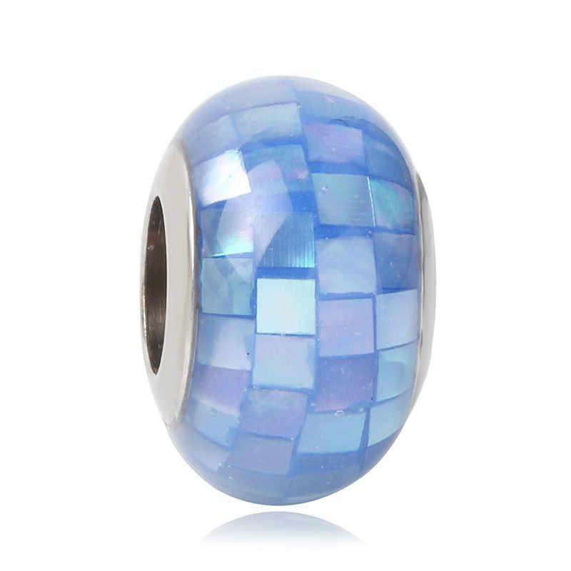 は、欧州パンドラチャームブレスレット新アップルの花 925 シルバームラーノガラスカラフルな虹 DIY ジュエリービーズ