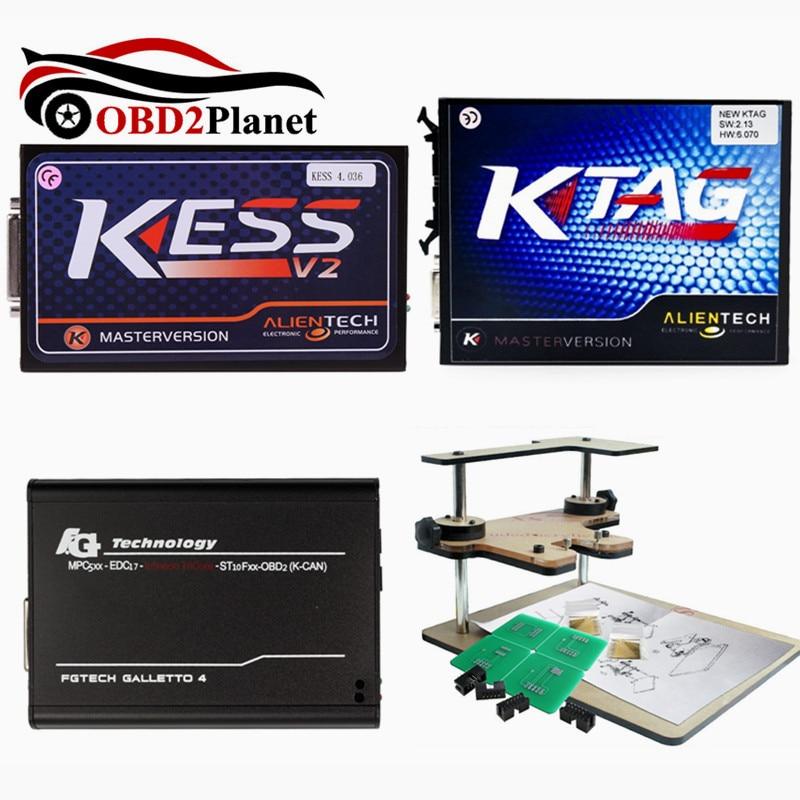 2017 высокое качество ЭКЮ программист KTAG v2.13 + FG Технология Galletto 4 V54 + v2.32 KESS V2 + BDM РАМА полный адаптеры для сим карт без маркеров Быстрая доставк