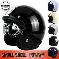 Thh Марка Moto rcycle шлемы Марка Casco Винтаж Harley скутер струи шлем Pilot открытым лицом Vespa шлем Moto небольшой старинные helme