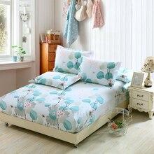 2020 novo verão 100% algodão cabido folhas colorido folha de cama flor impresso colcha gêmeo completa rainha rei cama colchão capa