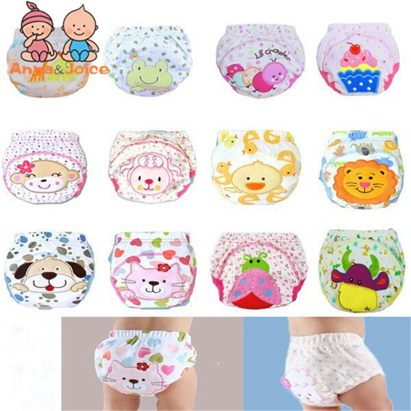 30pcs/lot Waterproof Baby Training Pant Underwear Cotton Learning/study Infant Pants Trx0001