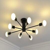 110V 220V Modern Led Chandelier E27 bulb Ceiling mounted LED Chandelier Lighting For Living room Dining room Kitchen bedroom